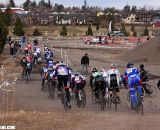 The women's field heads for the rocky part of the course. ©Pat Malach