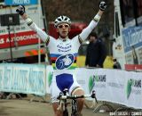Lars van der Haar takes his first win in the World Championships jersey at the first Cauberg CX in Valkenburg.