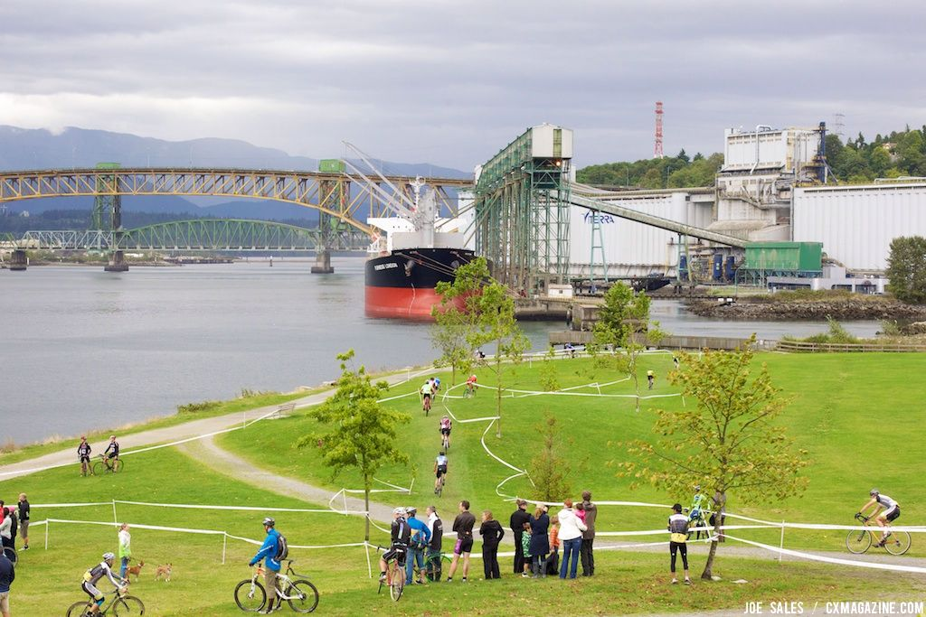 The view east towards Iron Workers bridge and the North Shore, home to spectacular mountain biking. © Joe Sales