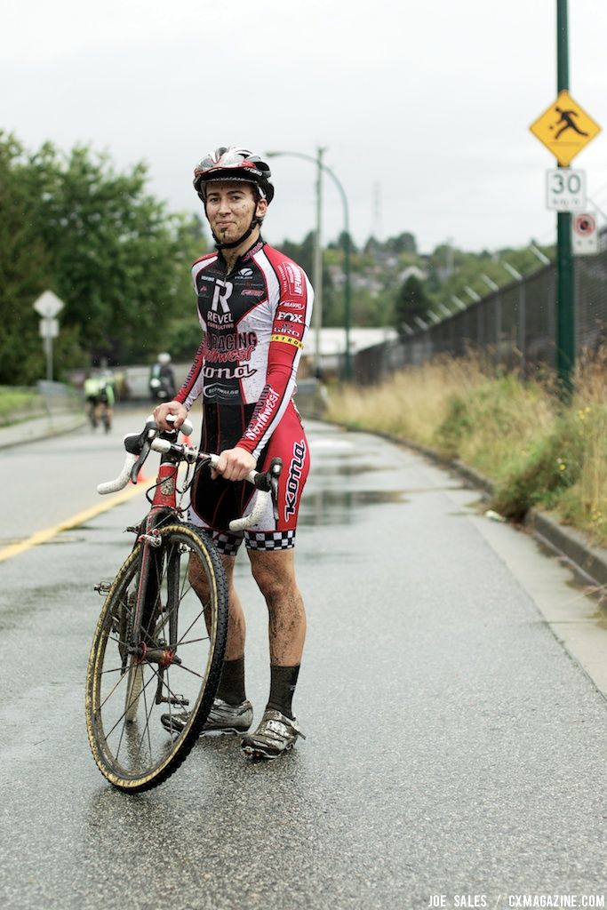 Steve Fisher (Revel-Rad) took top spot at the 2011 Wedgewood  New Brighton Cyclocross race. © Joe Sales