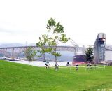 New Brighton Park sits on the water of Burrard Inlet, a working harbour. © Joe Sales