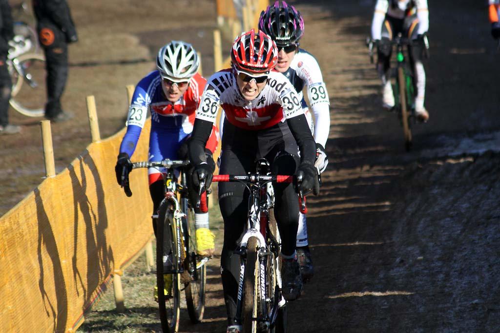 Katrin Leumann leads Gabby Day and Christine Majerus. © Bart Hazen