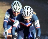 Christel Ferrier Bruneau and Pauline Ferrand Prevot work together. © Bart Hazen