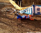 A bulldozer flattened the ruts but it still made for tricky descent