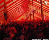 The Belgian tent was where the party was.