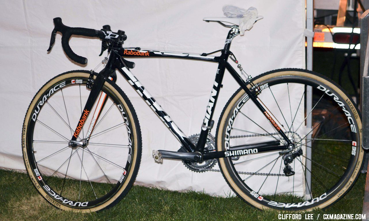 Sanne van Paasssen\'s 2012 CrossVegas-winning Giant TCX Advanced. © Cyclocross Magazine