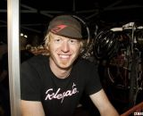 Joey Mullan is happy to watch the CrossVegas 2012 Elite Womens race. ©Cyclocross Magazine