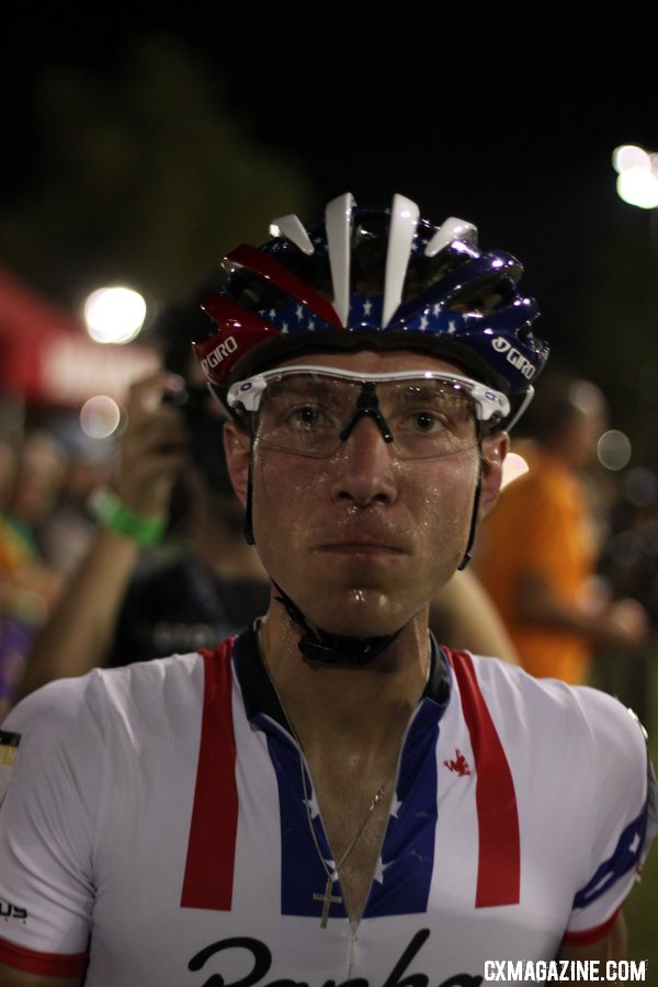 Powers was all business late in the race at CrossVegas 2012. ©Cyclocross Magazine