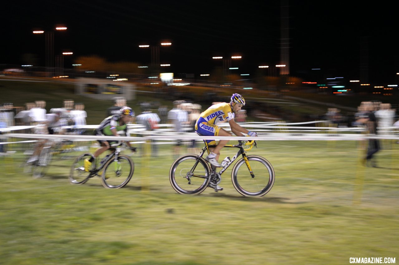 Rob Peeters was riding strongly until his crash - CrossVegas 2012. ©Cyclocross Magazine