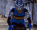 Marian College/Team Exergy Rider Coryn Rivera Hammers Down the Road to Second in the D1 Collegiate Race© Cyclocross Magazine
