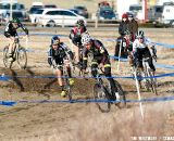 For most of the race, a small pack controlled the front of the race. 2012 Cyclocross National Championships, Elite Men. ©Tim Westmore