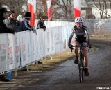 After a hard fought effort, Skylar Schneider rolled across the line in 2nd - seven seconds behind Anderberg © Cyclocross Magazine
