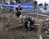 The slick mud claimed many victims during the day's racing. © Cyclocross Magazine