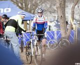 The muddy conditions made bike changes a valuable commodity. © Cyclocross Magazine