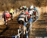 Master Men 30-34 racers head up hill on the first lap. ©Tim Westmore