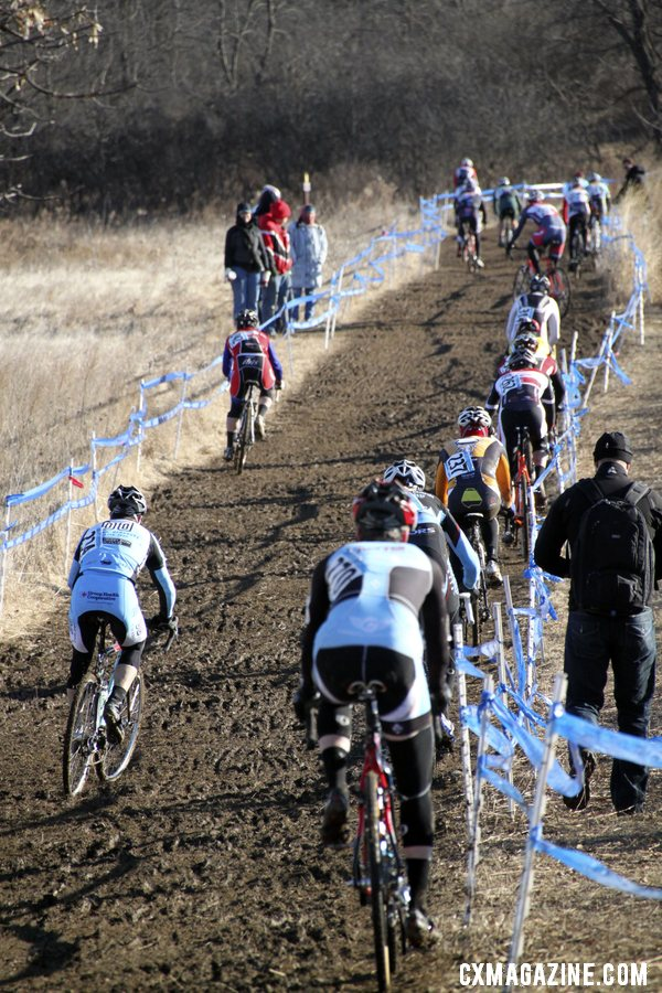 The start of the long climb.  © Cyclocross Magazine