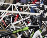 Bikes in the pits. 2012 Cyclocross National Championships, Masters Men 40-44. © Cyclocross Magazine