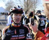Dwight being interviewed by Cyclocross Magazine's Chriss Bagg. 2012 Cyclocross National Championships, Masters Men 40-44. © Cyclocross Magazine