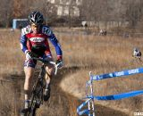 Don Myrah attacks the climb with Jon Cariveau in the distance. 2012 Cyclocross National Championships, Masters Men 45-49. © Cyclocross Magazine