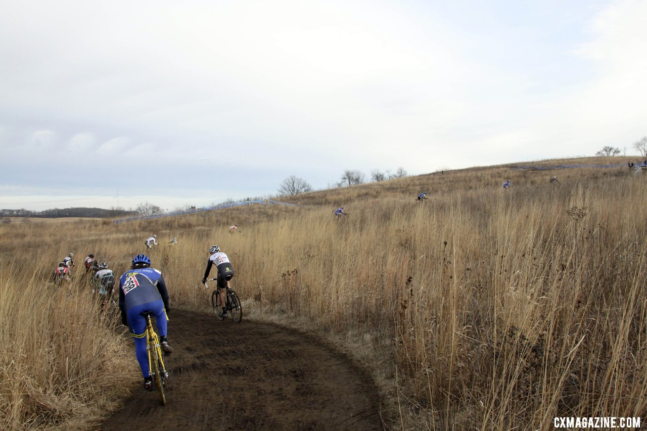 The Muddy Hills of Badger Prairie Park Were Starting to Look Like A Belgian Track © Cyclocross Magazine