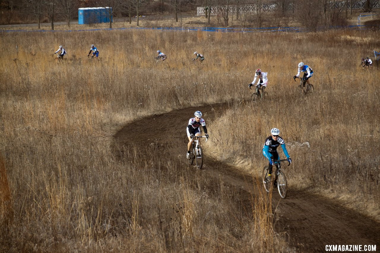 The 50-54 Field Was Spread Wide Across the Course with Several Minutes Separating the Top Finishers © Cyclocross Magazine
