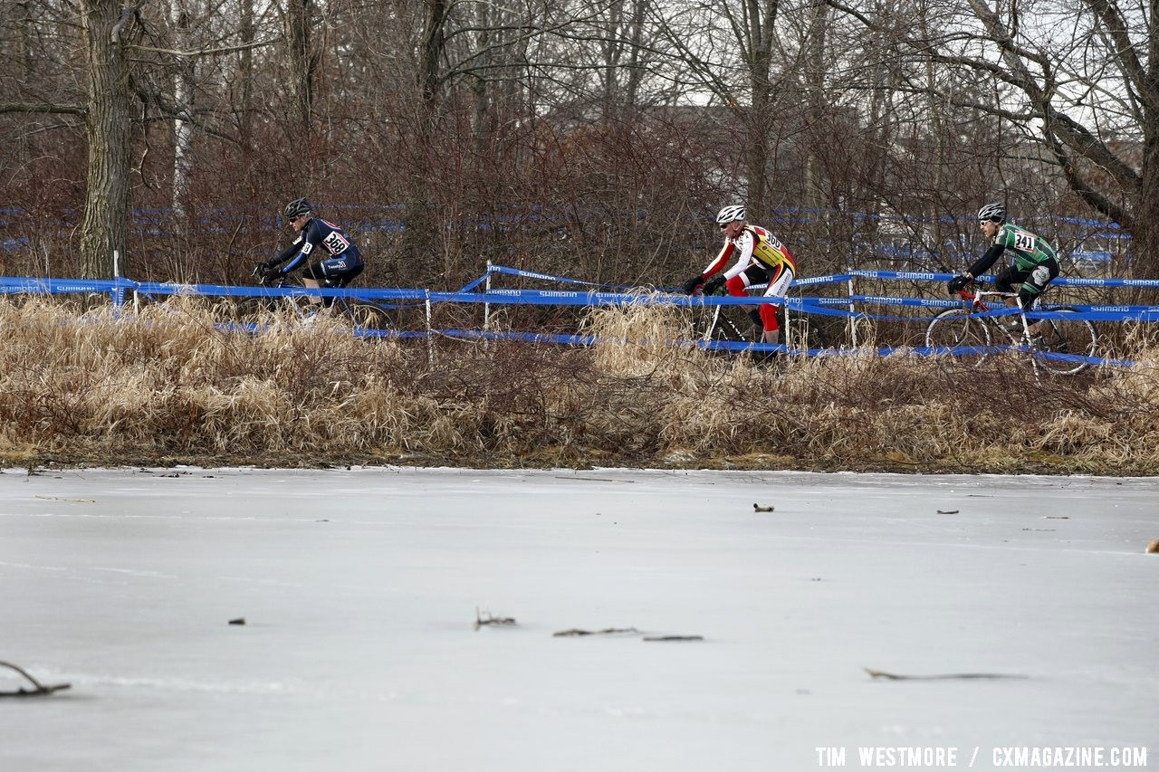 Days Ago The Entire Course Was Covered in Ice Like This Pond © Cyclocross Magazine