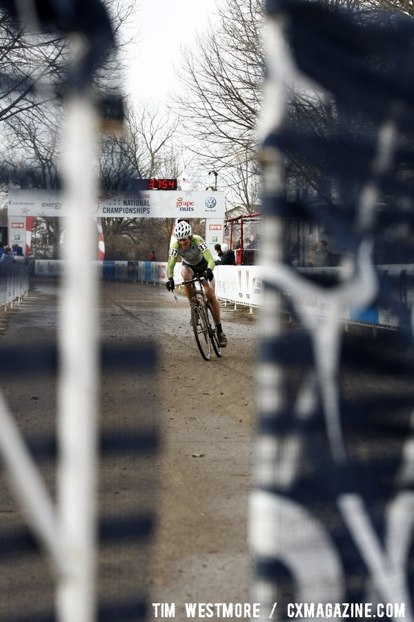 After the First Lap Tilfords Constant Pressure Kept Hines at 19 Seconds Most of the Race© Cyclocross Magazine