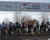 The 60-64 men ready to battle. 2012 Cyclocross National Championships, Masters Men Over 60. © Cyclocross Magazine