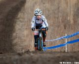 Tamara Cabalu climbs the hill on her way to 15th place. © Cyclocross Magazine