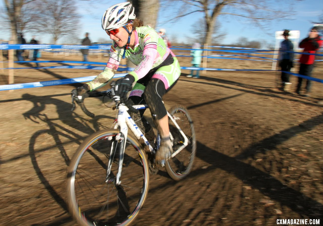 Margell Abel raced to fourth place. 2012 Cyclocross National Championships, Masters Women 40-44. © Cyclocross Magazine