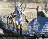 Sone gets one fan's encouragement. 2012 Cyclocross National Championships, Masters Women 40-44. © Tim Westmore