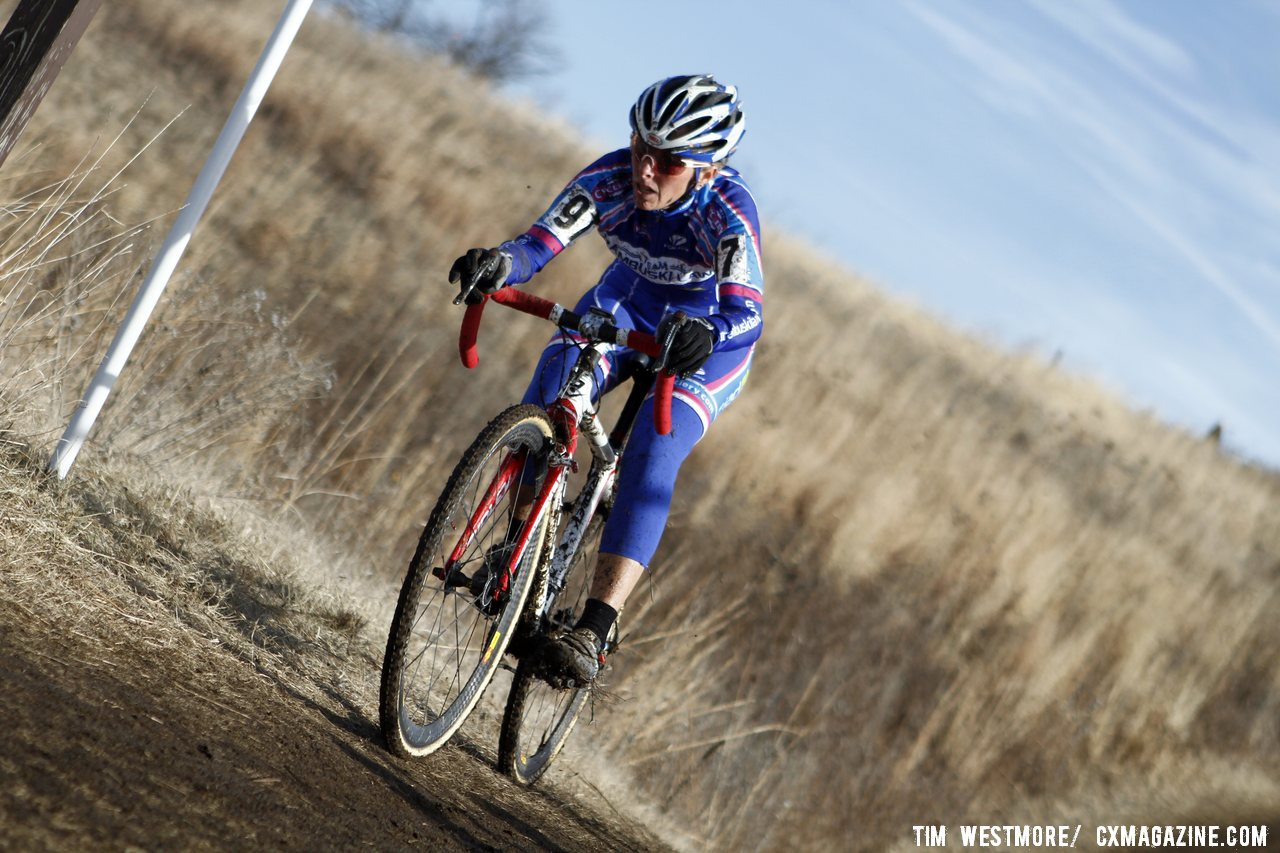 Katrina Baumsteiger from Norcal finished fifth in the Masters Women\'s 45-49 race. 2012 Cyclocross National Championships, Masters Women 60 and over. © Tim Westmore