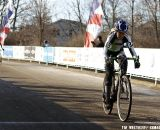 Walker holds off Walberg at the finish. 2012 Cyclocross National Championships, Masters Women 60 and over. © Tim Westmore