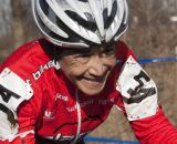Diane Ostenso was happy and gracious with second. 2012 Cyclocross National Championships, Masters Women Over 55. © Cyclocross Magazine