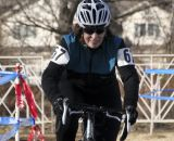 Julie ONeill is all smiles on her way to the 70+ title. 2012 Cyclocross National Championships, Masters Women Over 55. © Cyclocross Magazine