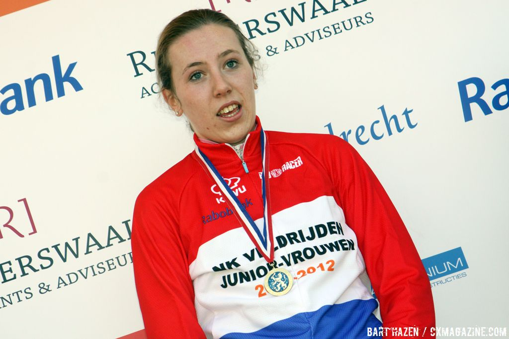 Junior Women\'s winner Annefleur Kalvenhaar