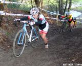 Lotte Eikelenboom (4th in beginners race) on her way up on one of the climbs