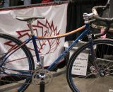 Peacock Groove brought three cyclocross bikes to the show, including this small disc-brake creation designed for the vertically-challenged rider. NAHBS 2012.  ©Cyclocross Magazine