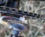 A well-placed zip tie keeps the chain from jamming into the crank © Cyclocross Magazine