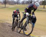 Ryan Trebon leads Jeremy Powers  © Joel Hjelmfelt