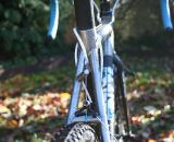 A nifty, integrated approach to rear brake cable routing. ©Cyclocross Magazine