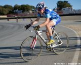 Georgia Gould (Luna) transitions from dirt to the tarmac of Laguna Seca's race course. ©Tim Westmore
