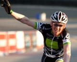 Aaron Schooler celebrates second place. ©Tim Westmore