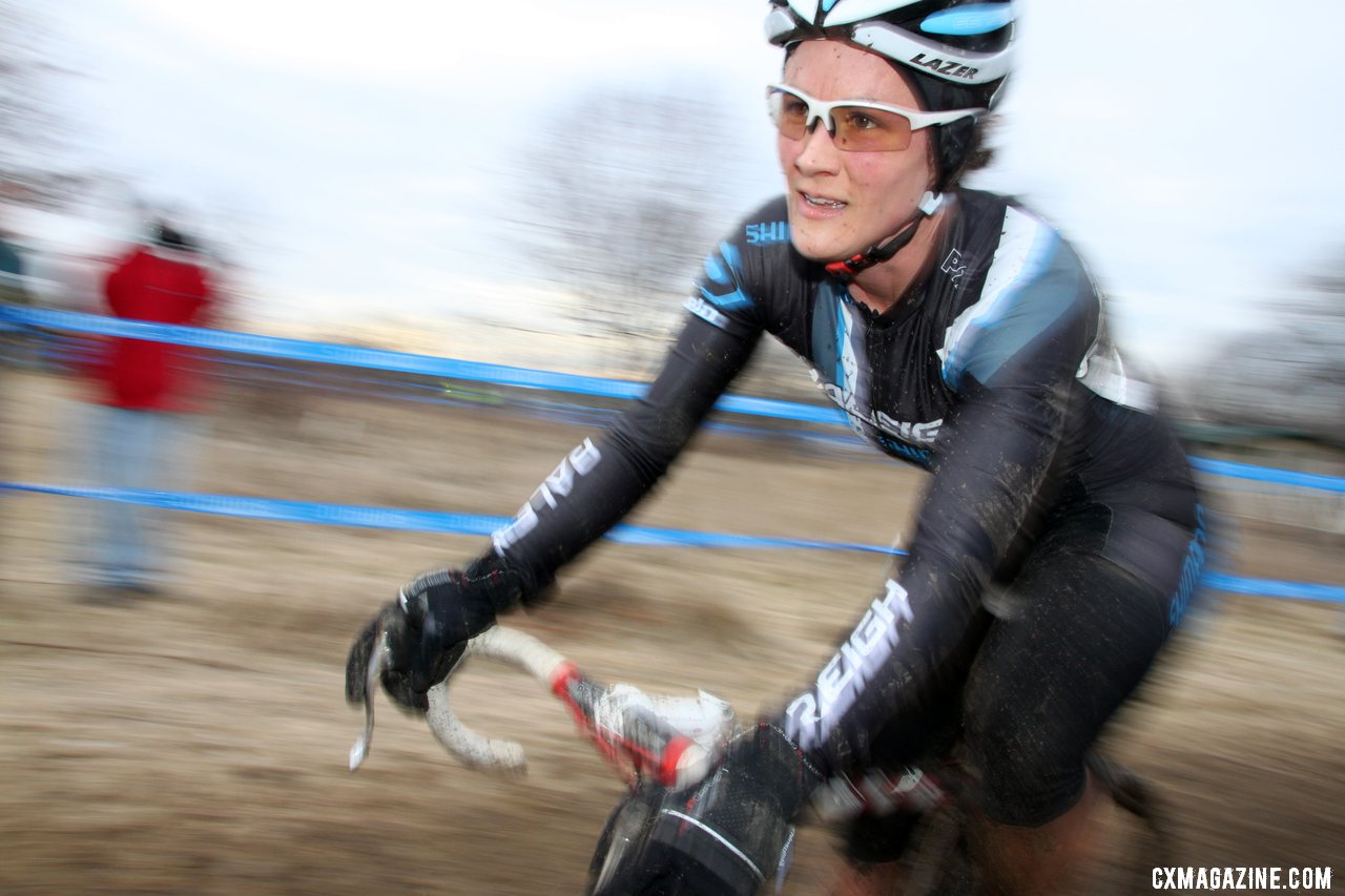 Gaertner took the holeshot but dropped back after a bad crash while sitting in third. . © Cyclocross Magazine