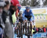 Mike Teunissen leading the charge at Superprestige Gieten © Bart Hazen