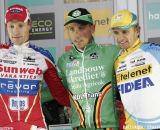 Elite Men Podium: Sven Nys, Klaas Vantornout,, Bart Wellens © Bart Hazen