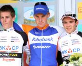 2012 Superprestige Ruddervoorde U23 Podium: Teunissen, Jens Adams, and Gianni Vermeersch  © Bart Hazen