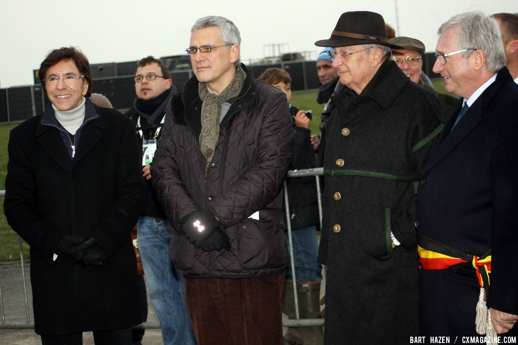 V.I.P. from left to right Elio di Rupo (Prime Minister of Belgium), Kris Peeters (Flemish President), King Albert of Belgium and on the right the Mayor of Koksijde © Bart Hazen