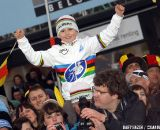 A young Niels Albert fan delighted with the win of his idol © Bart Hazen