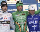 The Podium: Sven Nys, Niels Albert, and Francis Mourey © Bart Hazen